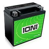 IONI ITX14-BS 12V 12Ah AGM Batterie kompatibel mit YTX14-BS versiegelt wartungsfrei vorgeladen Akkumulator Motorradbatterie