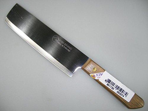 3er Pack - Thailand Kochmesser mit Holzgriff 28 cm [#172] KIWI + ein kleines Glückspüppchen - Holzpüppchen