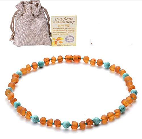 Collana di Ambra del Bambino Collana di Ametista baltica Turchese Collana di Ambra del Fuoco di dentizione del Bambino 33 cm