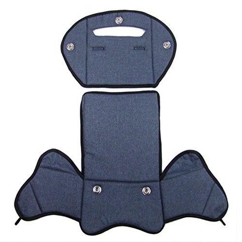BambiniWelt24 BAMBINIWELT Ersatzbezug, Sitzkissen, Bezug für Fahrradsitz, Modell RÖMER Jockey (Modell 4, meliert) (dunkelblau meliert) XX