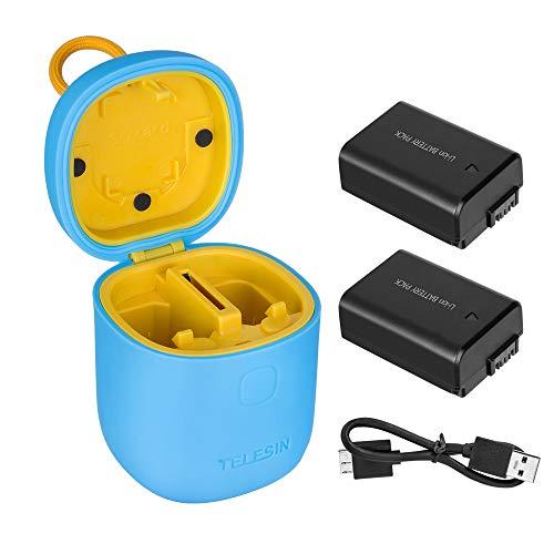 TELESIN allinbox NP-FW50 Cargador para Sony de 1100mAh con Batería Recargable Sony...