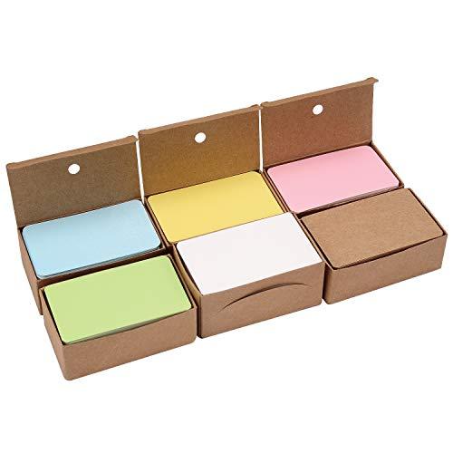 Berolle 600 delar 6 färger tomma kraftpapperskort visitkort gör-det-själv flashkort presentmeddelandekort