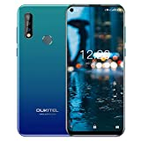 OUKITEL C17 Pro Unlocked Smartphones 64GB + 4GB RAM Android 9.0 6.35' FullView Display 13MP+5MP+2MP Triple Cameras Face Fingerprint Recognition Global Dual 4G LTE GSM Unlocked Cell Phone (Blue)