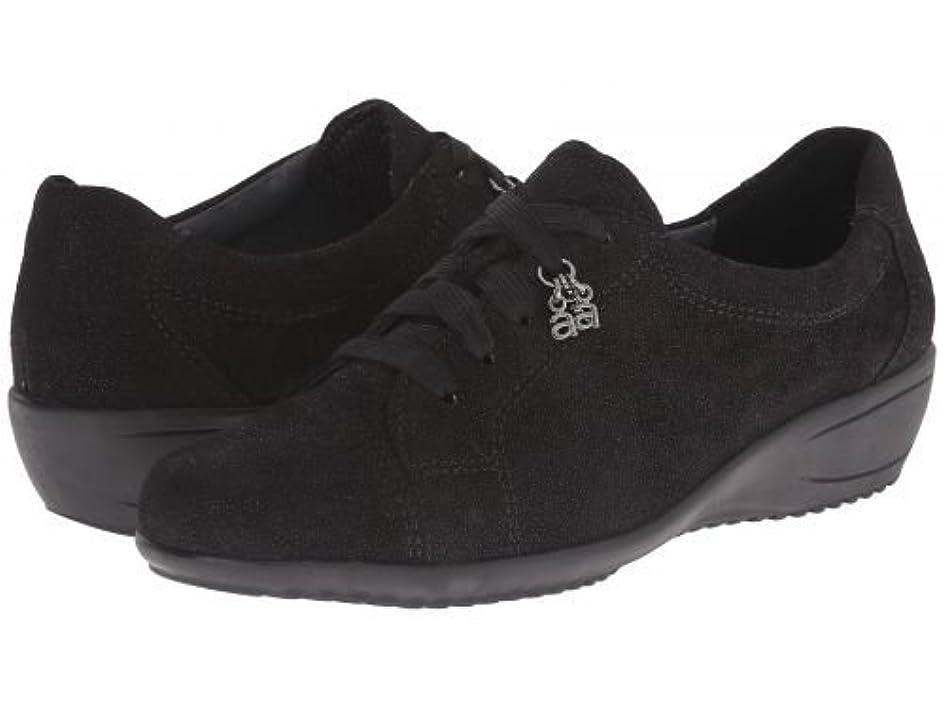 カロリースチュワード価値ara(アラ) レディース 女性用 シューズ 靴 スニーカー 運動靴 Libby - Black Suede Pin Dot [並行輸入品]