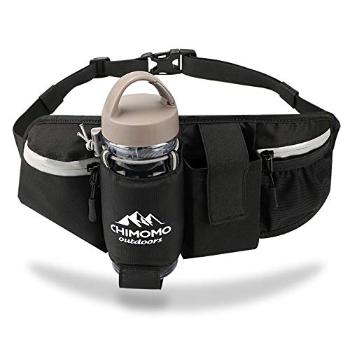 Reflective Running Belt with Water Bottle Holder,Adjustable No Bounce Hydration Waist Bag with Phone Holder,Water Resistant Fanny Pack Money Pouch for Men Women Fitness Jogging Hiking Walking Travel