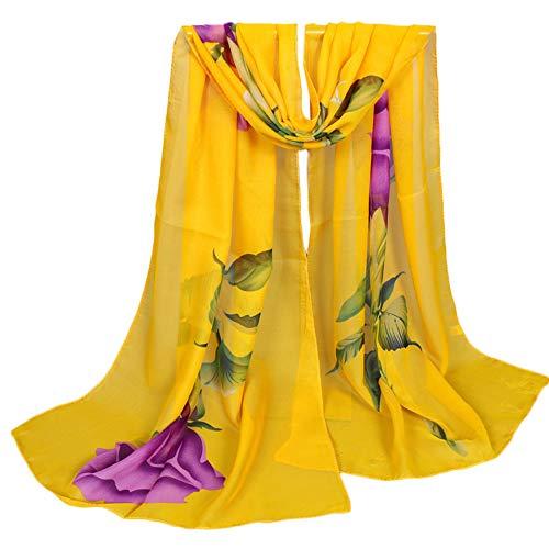 Lenfesh Chales Mantas Mujer Playa Fular Floral Estampado