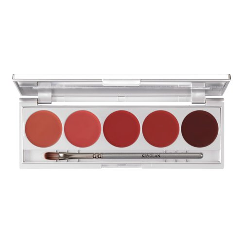 Kryolan Lippenstift Palette Lippen Make-Up Set 6
