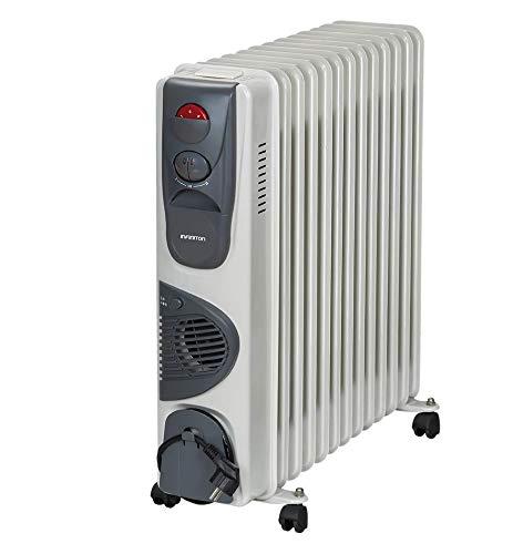 IN RADIADOR DE Aceite INFINITON Desde 700W/3000W (Control de Temperatura con termostato mecánico, 3 Niveles de Potencia, Soporte Anti-vuelco con Ruedas) (3000W (Ventilador))