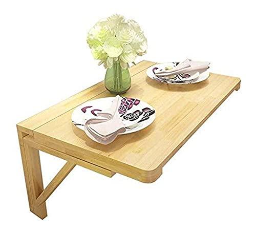 Mesas de centro de mesa de comedor Mesas de cocina Mesa de pared plegable de madera para colgar escritorio portátil fácil de instalar tratamiento de superficie pulida Mesas de café pequeñas