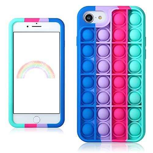"""Besoar Blue Rose Fidget Caso per iPhone 6/6S/7/8/SE 2020 4.7"""" Ragazzi Cover Carattere Fun Casi Divertente Fantastico Carino Kawaii Ragazze Unico Bambini per iPhone 6/6S/7/8/SE 2020"""