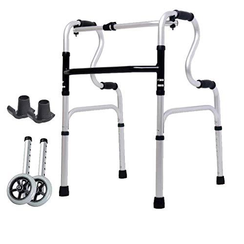 CENPEN Rollators Wheeled Walker Four-legged Stick For The Elderly Disabled Walker Aluminum Double Armrest 46cm×52cm×74cm Non-slip Walking Stick With Hospital