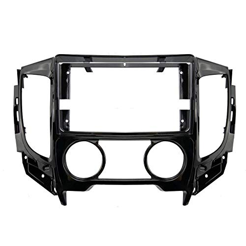YLPXSXGY Marco de audio para coche de 9 pulgadas, doble DIN Dvd marco adaptador de panel de salpicadero compatible con Mitsubishi Triton KJ/KK/KL/L200 2015+