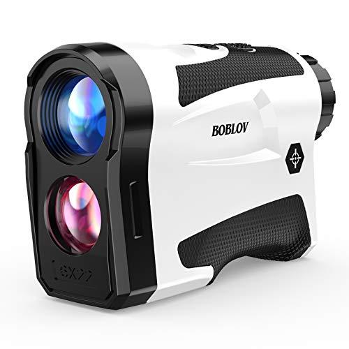 BOBLOV Telémetro de golf de 650 yardas con soporte Pinsensor Vibration On/Off y carga USB, distancia de bloqueo de bandera, medidor de velocidad para golf o medición de caza