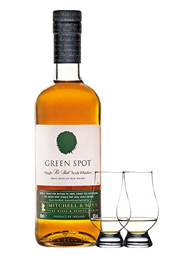 Green Spot Pure Pot Still Whiskey 0,7 Liter + 2 Glencairn Gläser