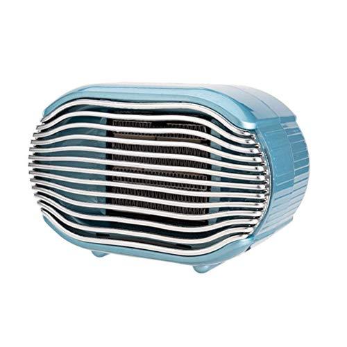 Calefactor Electrodomésticos pequeños mini calentador eléctrico, calentador de ventilador portátil con ajuste y protección contra sobrecalentamiento 2 Temperatura, Calefactores de Ho.(Color: Azul), Co