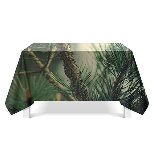 DREAMING-Green Plant Art Deco Tischdecke Haushalt Tischdecke Tv-Schrank Teetischdecke Runder Tisch Tischset 90cm * 140cm