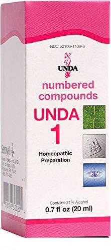 UNDA - UNDA 1 Numbered Compounds - Homeopathic Preparation - 0.7 fl. oz.