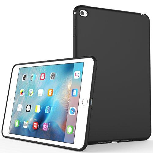 iPad Mini 4 Case, SENON Slim Design Matte TPU Rubber Soft Skin Silicone Protective Case Cover for Apple iPad Mini 4 (2015 Edition) 7.9 Inch Tablet,Black
