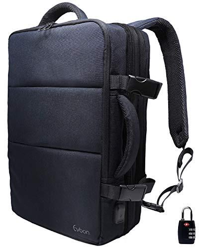 Evoon リュック メンズ ビジネスリュック バックパック リュックサック 大容量 旅行バック 防水 ビジネス 多機能 撥水加工 USB 盗難防止 人気 15.6インチ ネイビー