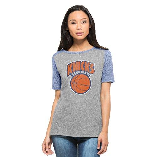 NBA New York Knicks Women's '47 Empire Tee, Vintage Grey, Large