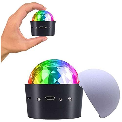 qiaohuan shop Mini USB bola de discoteca, nueva generación mini USB fiesta luz, luz estroboscópica portátil, luz LED decorativa para el coche, para Halloween/Navidad/fiesta familiar, etc.
