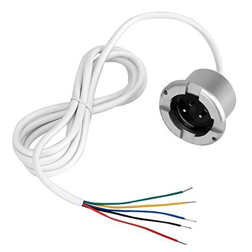 Wandisy Regalo de Julio Sensor de Alarma de inundación de Fugas de Agua, Sala de máquinas Detector de Fugas de Agua Aislado 12V