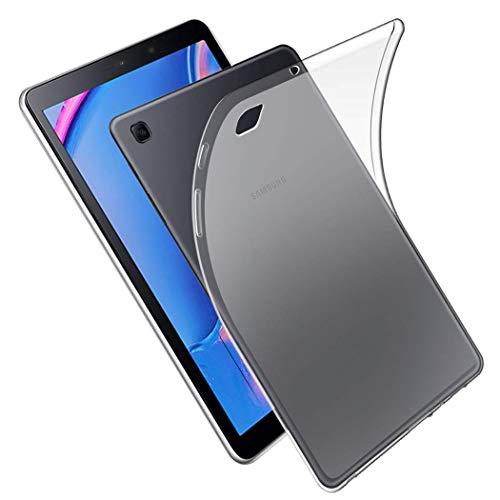 NUPO Funda para Samsung Galaxy Tab A7 Lite 2021, ultrafina, translúcida, suave, de silicona TPU transparente, para Galaxy Tab A7 Lite SM-T220/T225 (blanco mate)