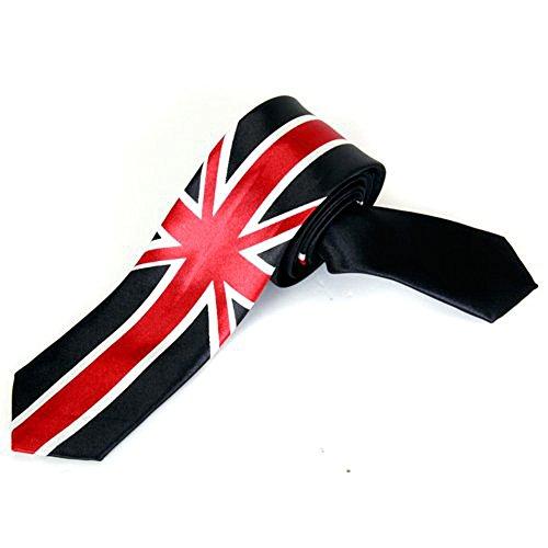 SODIAL(R) Loisirs Cravate Unisexe Mince Maigre Cravate - Union Jack