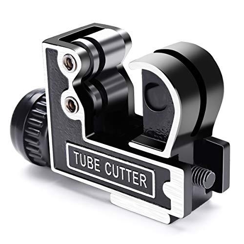 Cortatubos GOCHANGE Cortador de Tubo Ajustable de Acero Tipo de Cojinete con Diámetro entre 3-28mm para Cortar Acero Inoxidable, Cobre, Aleación deAluminio, PVC,Mini Cortador de Tubo de Metal
