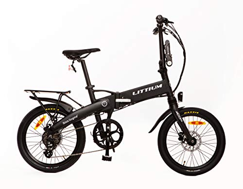 Littium Bicicleta eléctrica Ibiza Dogma 03 10.4A Negra, Adultos Unisex, Black, Plegable