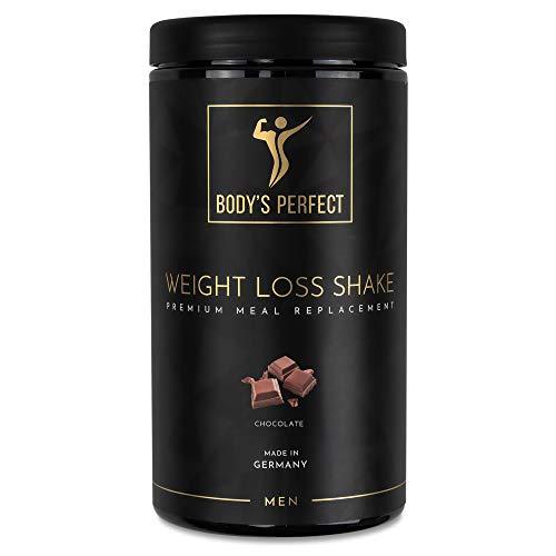 Zertifizierter Abnehm-Shake für Männer I Markenprodukt von BODY\'S PERFECT I Mahlzeitenersatz mit hochwertigen Proteinen I Mit allen wichtigen Vitaminen und Mineralstoffen I 500 g (Schokolade)