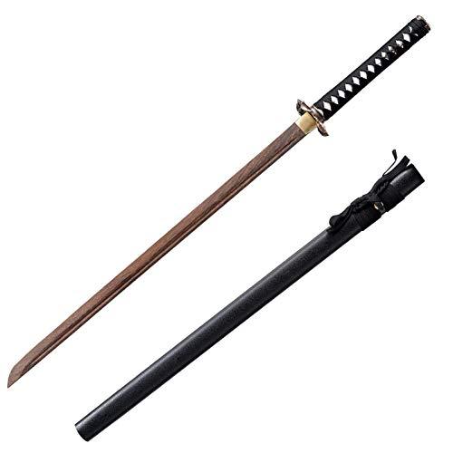 Espada de Madera de Sable Japons Japons con Funda de Kendo, Rendimiento de Entrenamiento de Iaido, Coleccin, Accesorios para Juegos de rol, 103 Cm