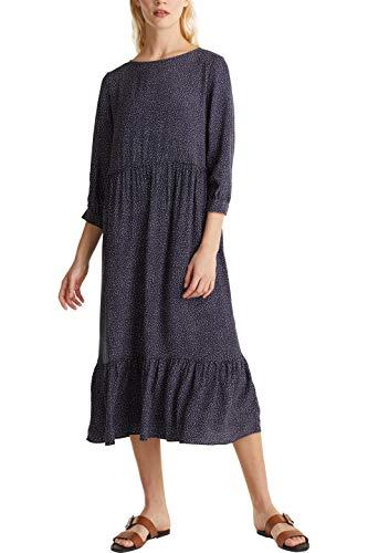 Esprit 030EE1E343 Kleid, Damen, Blau 36 EU