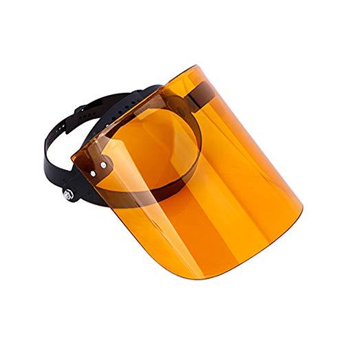 Urisgo - Casco de seguridad transparente con visera clara, casco de jardín antisaliva, protección para la cara