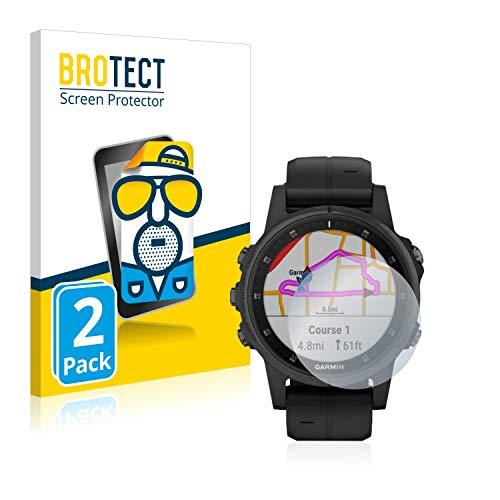 BROTECT 2X Entspiegelungs-Schutzfolie kompatibel mit Garmin Fenix 5S Plus (42 mm) Bildschirmschutz-Folie Matt, Anti-Reflex, Anti-Fingerprint
