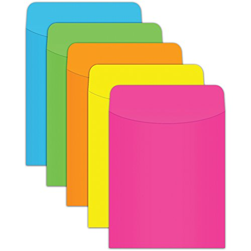 Top Notch Teacher Products TOP425 Brite Pockets,35 per Package