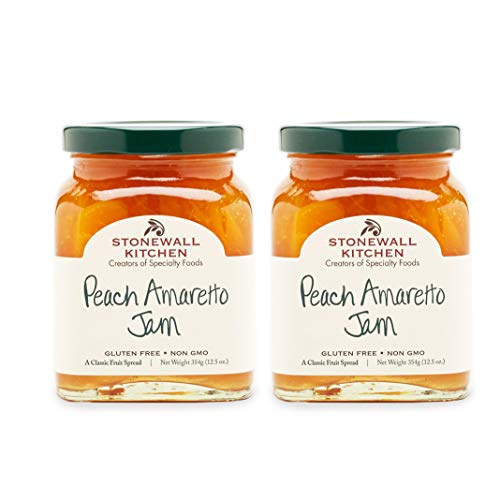 Stonewall Kitchen Peach Amaretto Jam, 12.5 Ounces (Pack of 2)