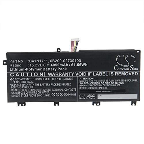 vhbw Batería Recargable Compatible con ASUS TUF Gaming FX705GD-EW105, Gaming FX765GM Notebook (4050 mAh, 15,2 V, polímero de Litio)