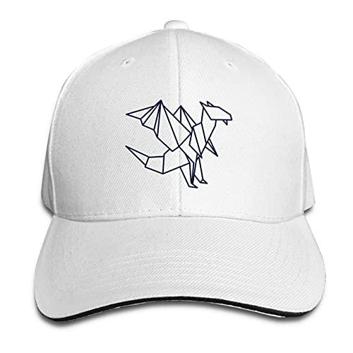 AUDNEDB Origami Dragon Gorra de béisbol para hombre y mujer, estilo clásico, informal, color blanco