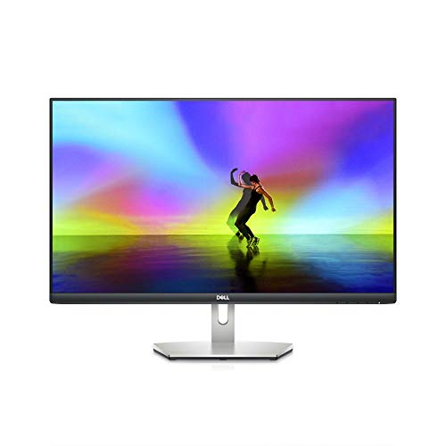 Dell S2721H 27 Inch Full HD 1080p, AMD FreeSync IPS Ultra-Thin Bezel Monitor, Built-in Speakers, Silver, Black