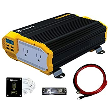 KRIËGER 1100 Watt 12V Power Inverter Dual 110V AC Outlets Installation Kit Included Automotive Back Up Power Supply For Blenders Vacuums Power Tools MET Approved According to UL and CSA.