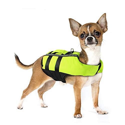 Neusky Pet Hundeschwimmweste Hunde Schwimmwest Badeanzug Safe Life Jacket (S, Blassgrün)