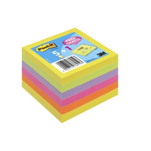 Post-it R3305+1 - Lote de 6 blocs de notas (76 x 76 mm), color neón