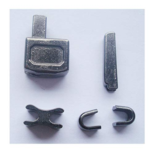 2 sets gun metal #10 metal zipper insertion pin zipper head box zipper sliders retainer insertion pin easy for zipper repair,Zipper Repair Kit (#10)
