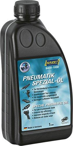 HAZET Pneumatik-Öl (Füllmenge: 1000 ml, silikonfreies Spezial-Öl, mit Füllstandanzeige) 9400-1000