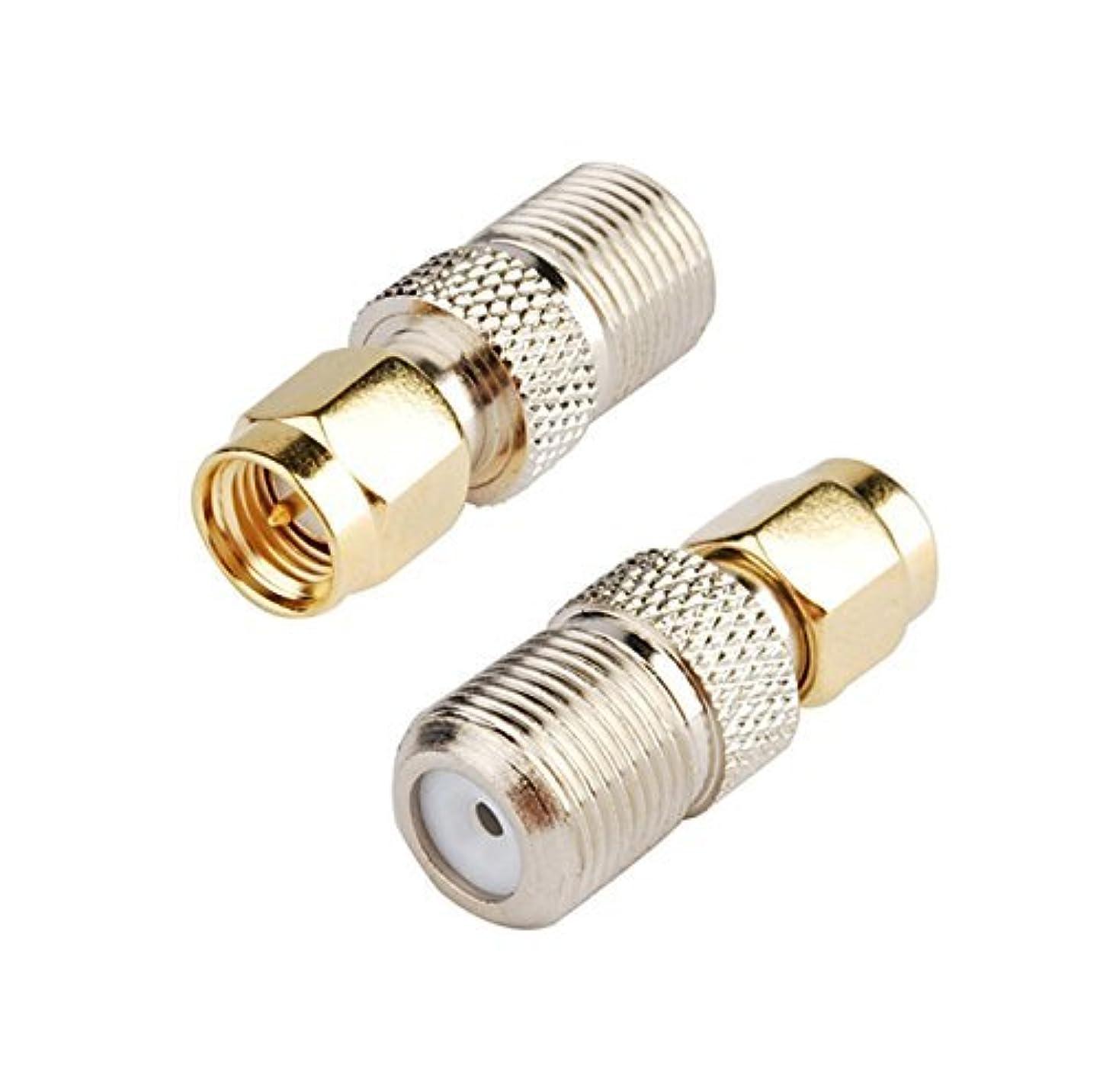 きゅうり世辞スプーン2pcs DHT Electronics RF coaxial coax adapter SMA male to F female [並行輸入品]