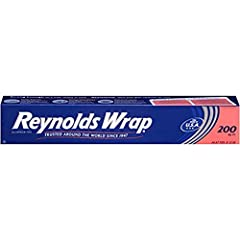 This package contains one roll of Reynolds Wrap Standard Aluminum Foil, measuring 200 feet long by 12 inches wide (200 square feet) Aluminum foil wrap offers a durable way to protect pans, simplify cleanup and wrap leftovers Use as a tent over roaste...