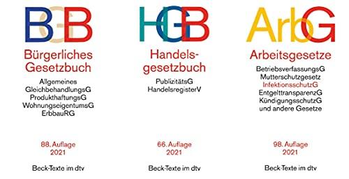 BGB + HGB + ArbG in der je aktuellen Auflagen im Set