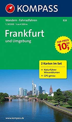 KOMPASS Wanderkarte Frankfurt und Umgebung: Wanderkarten-Set mit Radrouten und Naturführer. GPS-genau. 1:50000 (KOMPASS-Wanderkarten, Band 828)