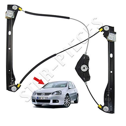 STARKIT PERFORMANCE - Mecanismo elevalunas eléctrico Delantero Derecho copiloto para Volkswagen Golf 5 Modelo 3 Puertas de 2003 a 2009